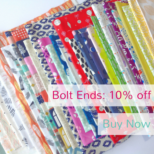 10% Off All Bolt Ends at The Fabric Fox