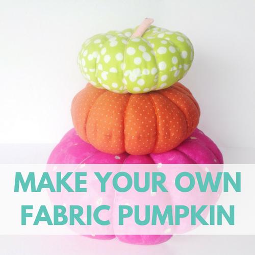 Halloween Fabric Pumpkin Tutorial