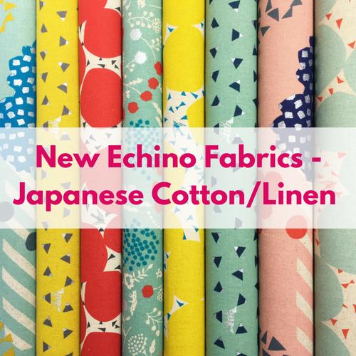 New Echino Cotton/Linen Canvas Fabrics