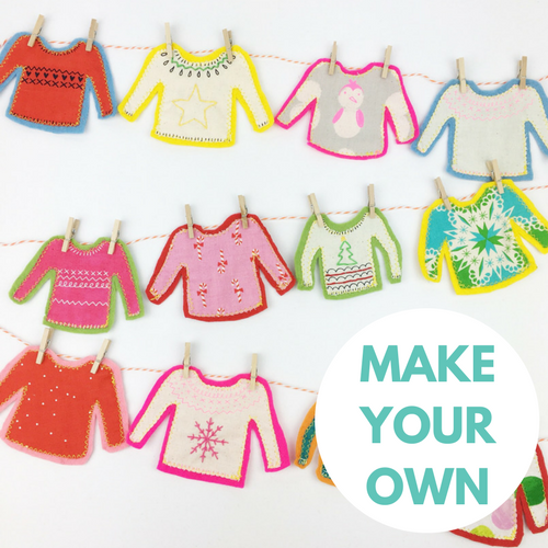 Make Your Own Mini Christmas Jumpers Bunting Decoration