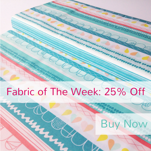 25% Off Clueless Hearts Innocence from the Playing Pop collection by Art Gallery Fabrics, Fabric of The Week