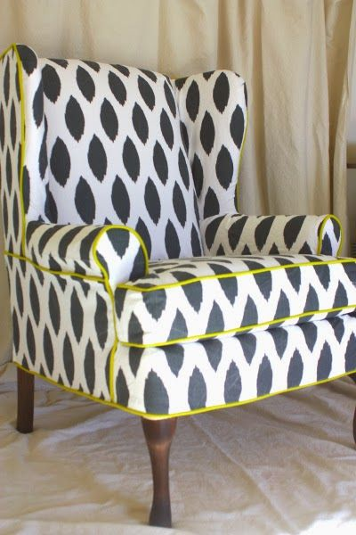 Chair Decorated With Yellow Piping