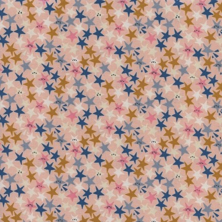 Starstruck Peachy from the Paper Cuts collection by Cotton + Steel