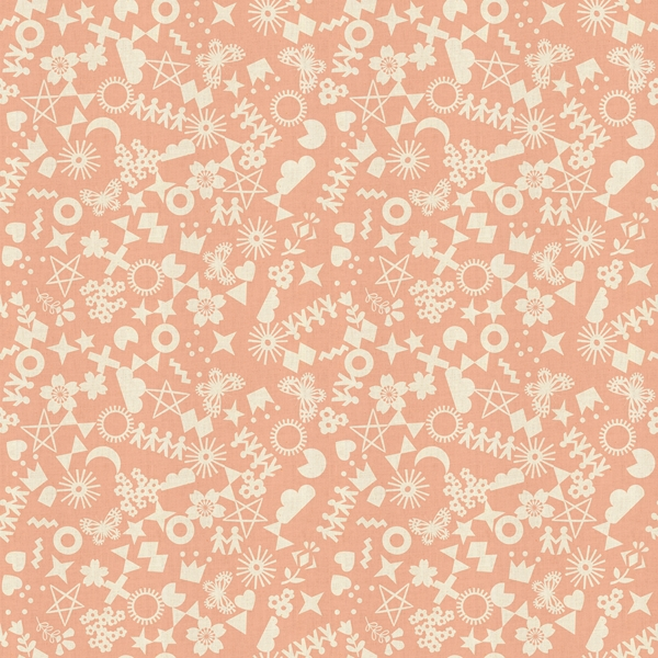 Cut It Out Peachy from the Paper Cuts collection by Cotton + Steel