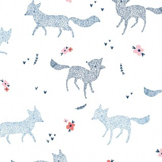 Dotted Foxes from the Pine Grove collection by Dear Stella