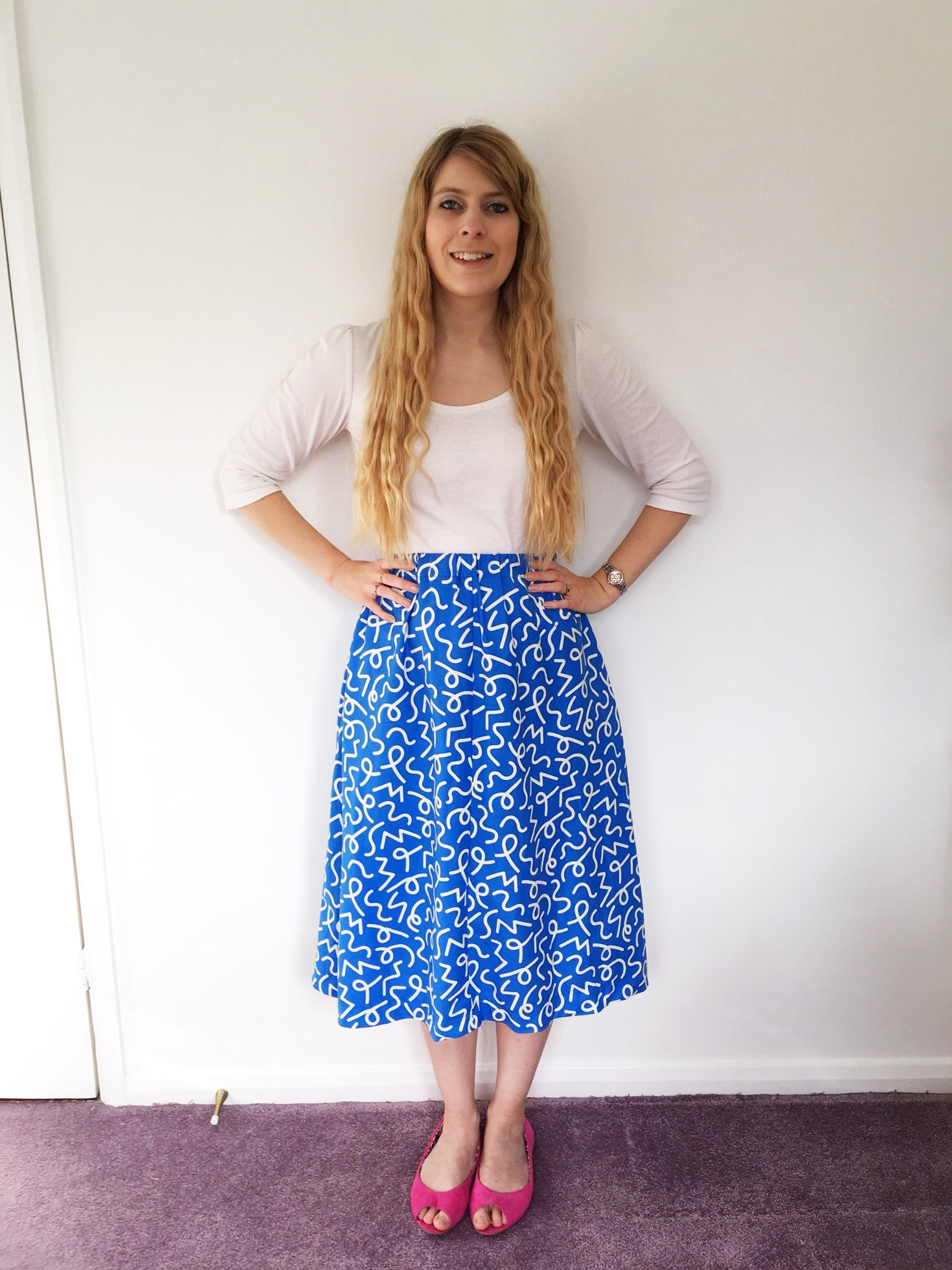 Kirsty's Dominique Skirt in Permanent Wave Cobalt