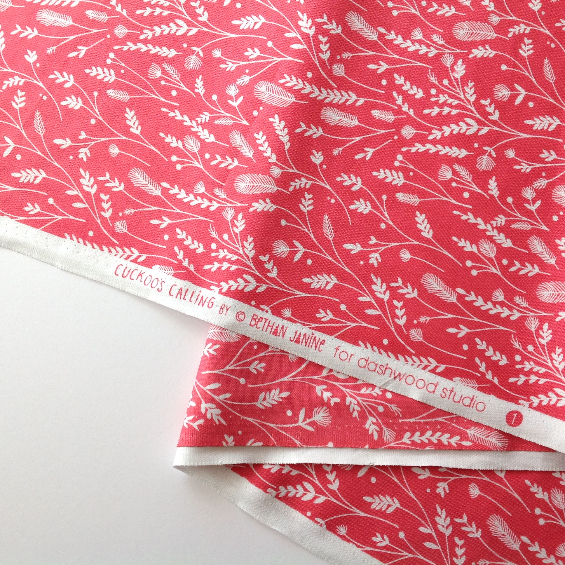 Pink Leaves from the Cuckoo's Calling collection by Dashwood Studio