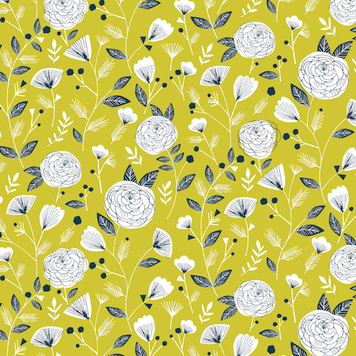 Flowers in Yellow from the Flock collection by Dashwood Studio