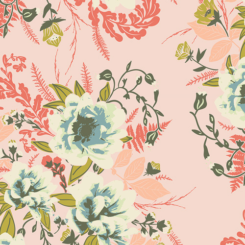 Wild Posy Flora from the Forest Floor collection by Art Gallery Fabrics