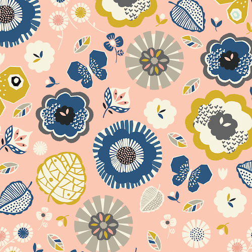 Floral from the September Blue collection by Dashwood Studio