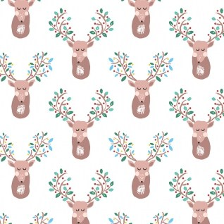 Sleeping Deer from the Pine Grove collection by Dear Stella