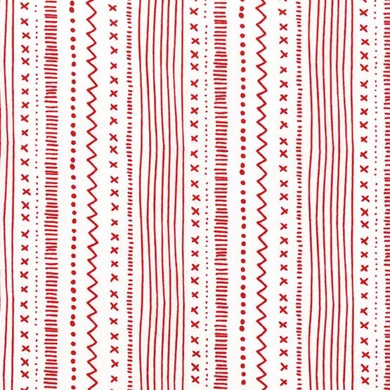 Stitches & Stripes Peppermint from the Woodland Winter collection by Michael Miller Fabrics