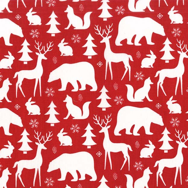Winter Friends Santa from the Woodland Winter collection by Michael Miller Fabrics