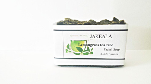 Tea Tree Facial Soap with Activated Charcoal Lemongrass Oily Skin