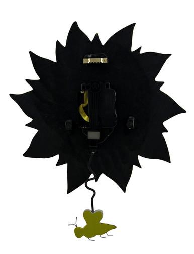Allen Designs Bee Sunny Sunflower Wall Clock with Bee Pendulum - Zeckos