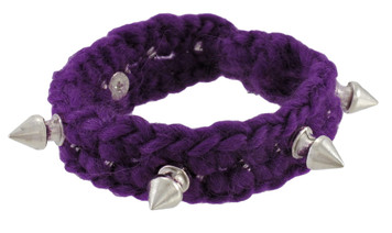 https://s3.amazonaws.com/zeckosimages/81191-knitting-yarn-chrome-spike-bracelet-purple-1I.jpg