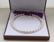 """NATURAL 17"""" 15MM ROUND WHITE SOUTH SEA PEARL NECKLACE ROLLED GOLD CLASP j9482"""