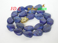 Genuine 18mm ellipse olivary lapis lazuli necklace j6437
