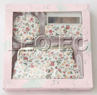 set white pink fleuret Jewelry silk mirror bags pouches Boxes set T363A20