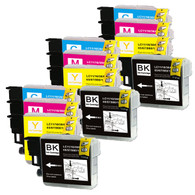 12-Pack Compatible Ink for Brother LC61