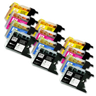 12-Pack Compatible Ink for Brother LC75