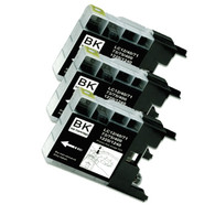 3-Pack BLACK Compatible Ink for Brother LC75BK