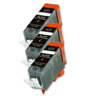 3 Pack BLACK Compatible Ink w/ Chip for Canon PGI-220