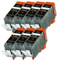 7-Pack BLACK Compatible Ink w/ Chip for Canon PGI-220