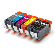 6-Pack Compatible Ink w/ GREY for Canon PGI-225/CLI-226