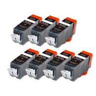 7-Pack BLACK Compatible Ink w/ Chip for Canon PGI-225
