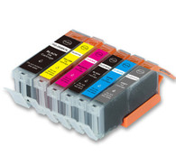 6-Pack Compatible Ink w/ GRAY for Canon PGI-250XL/CLI-251XL