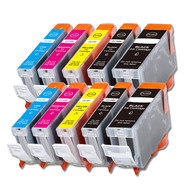 10-Pack Canon CLI-8/PGI-5 Compatible Ink w/ chip