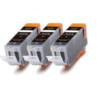 3-Pack BLACK Canon PGI-5Bk Compatible Black Ink w/ chip