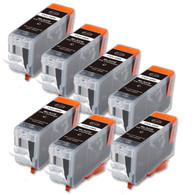 7-Pack BLACK Canon PGI-5Bk Compatible Black Ink w/ chip