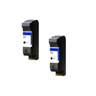 2-Pack HP #15 C6615 Hi-Yield Ink Cartridge - Remanufactured