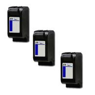 3-Pack HP #23 C1823D Hi-Yield Ink Cartridge - Remanufactured