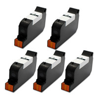 5-Pack HP #45 51645 Hi-Yield Ink Cartridge - Remanufactured