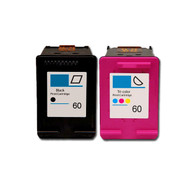 2-Pack (BK+C) HP #60XL Hi-Yield Ink Cartridges - Remanufactured