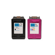 2-Pack (BK+C) HP #61XL Hi-Yield Ink Cartridges - Remanufactured
