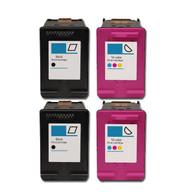 4-Pack (BK+C) HP #61XL Hi-Yield Ink Cartridges - Remanufactured