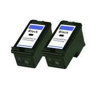 2-Pack (Black Only) HP #74XL Black Hi-Yield Ink Cartridge - Remanufactured