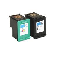 2-Pack (Black+Color) HP 92+93 Ink Cartridges - Remanufactured