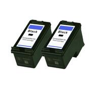 2-Pack HP #96 C8767WN Black Ink Cartridge - Remanufactured