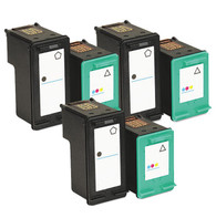 6-Pack (3Black+3Color) HP #96 #97 Ink Cartridge - Remanufactured