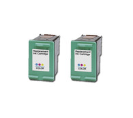 2-Pack HP #97 C9363WN Tri-Color Ink Cartridge - Remanufactured