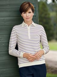 Erin Stripe Polo Shirt