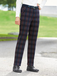 Croft Trousers Navy /Red /Tan.