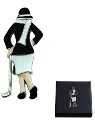 Lady Golfer Brooch