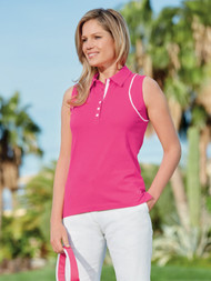 Sleeveless Piped Polo Shirt Fandango