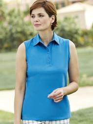 Sleeveless Pique Polo Shirt